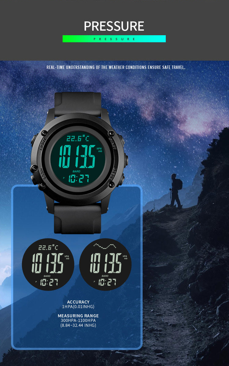 SKMEI 1793 Outdoor Compass Watch w/ Thermometer
