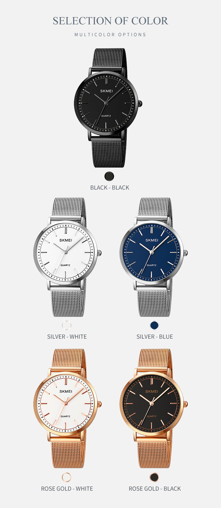 SKMEI 1664 Simple Watches for Men 38mm w/ Stainless Steel Band