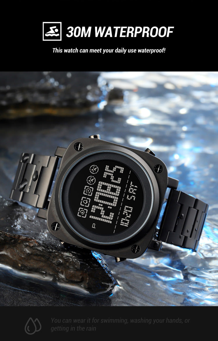 SKMEI 1726 LED Square Watch Mens