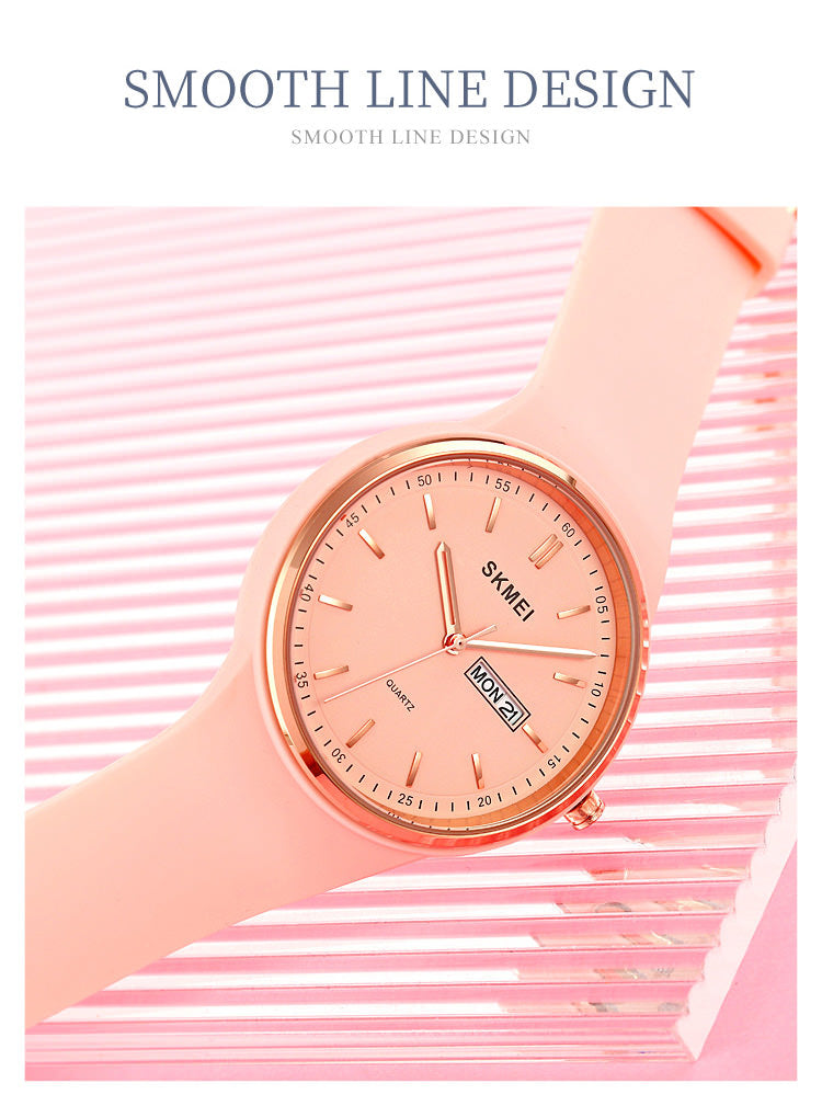 SKMEI 1747 Simple Watches Womens w/ Colorful Watch Band