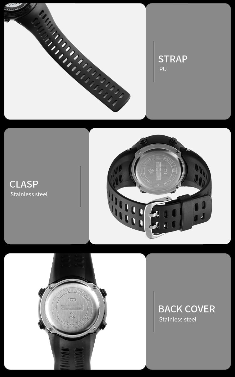 SKMEI 1773 Dual Time Outdoor Sports Watch IP68