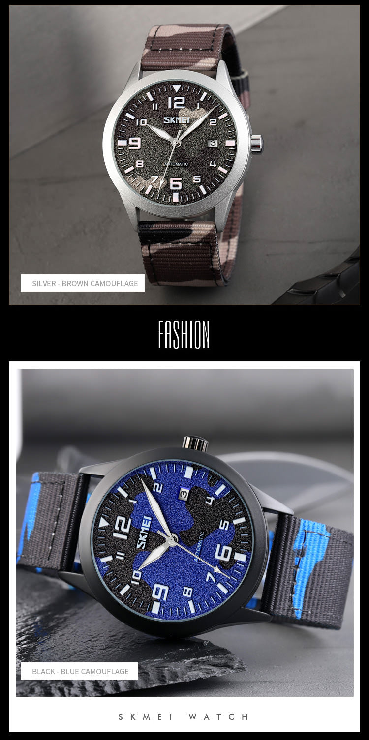SKMEI 9246 Mens Military Watches IP67 w/ Mechanical Movement