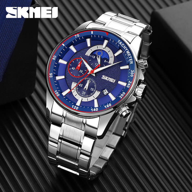 SKMEI 9250 Sun and Moon Watch for Mens IP67 w/ Chronograph