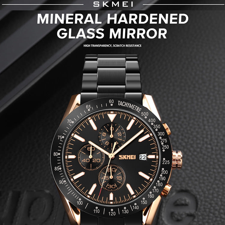 SKMEI 9253 45mm Personalized Mens Watches IP67 w/ Chronograph