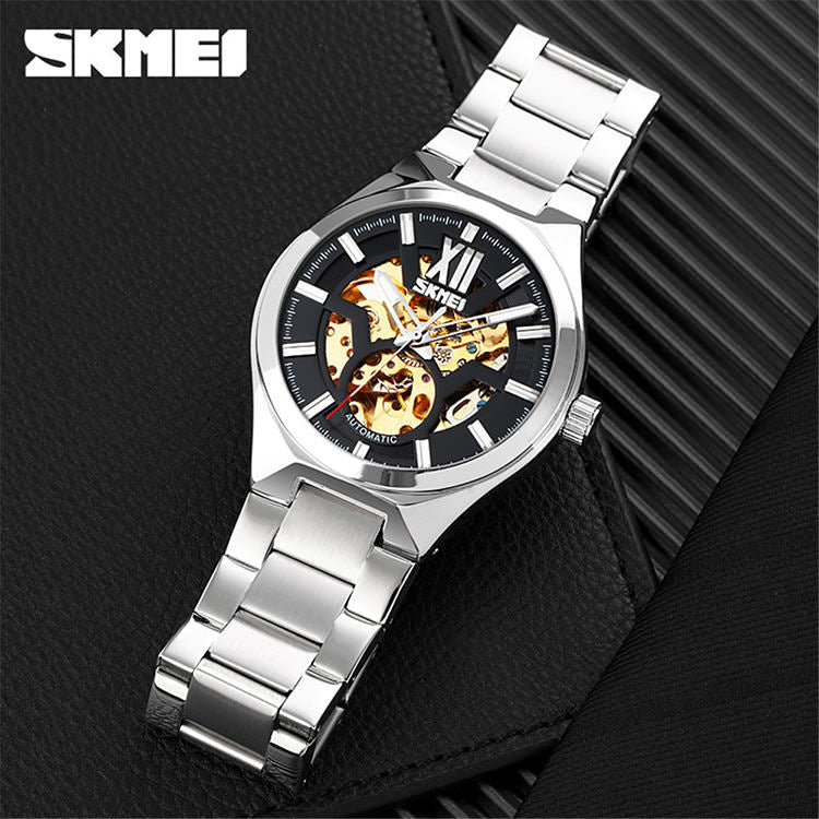SKMEI 9258 Automatic Mechanical Skeleton Watch for Men