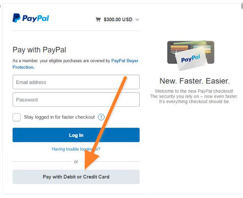 how to use credit card in paypal