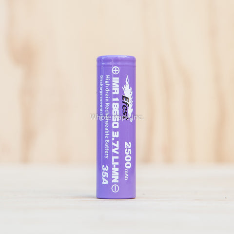 Efest Purple 18650 2500mAh Battery - Flat Top - 35A - Whole Vape Inc. - 1