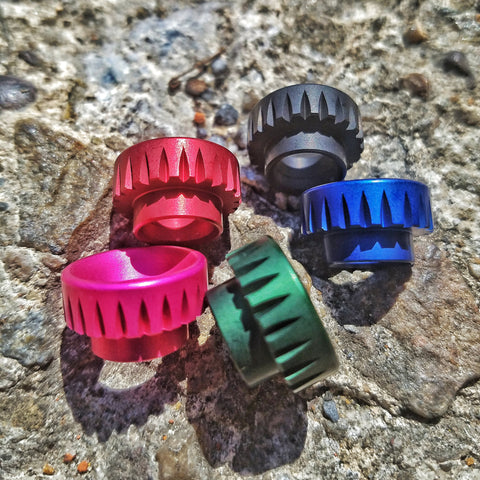 Anodized V-Groove Drip Tip by Comp Lyfe