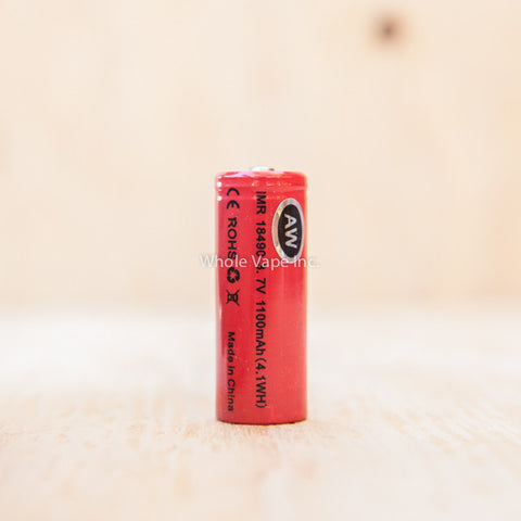 AW IMR 18490 1100mAh Li-MN Battery - Whole Vape Inc.