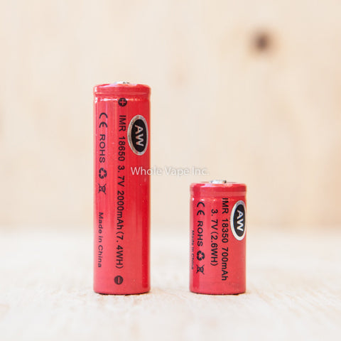 AW IMR 18650 2000mAh Li-MN Battery - Whole Vape Inc.