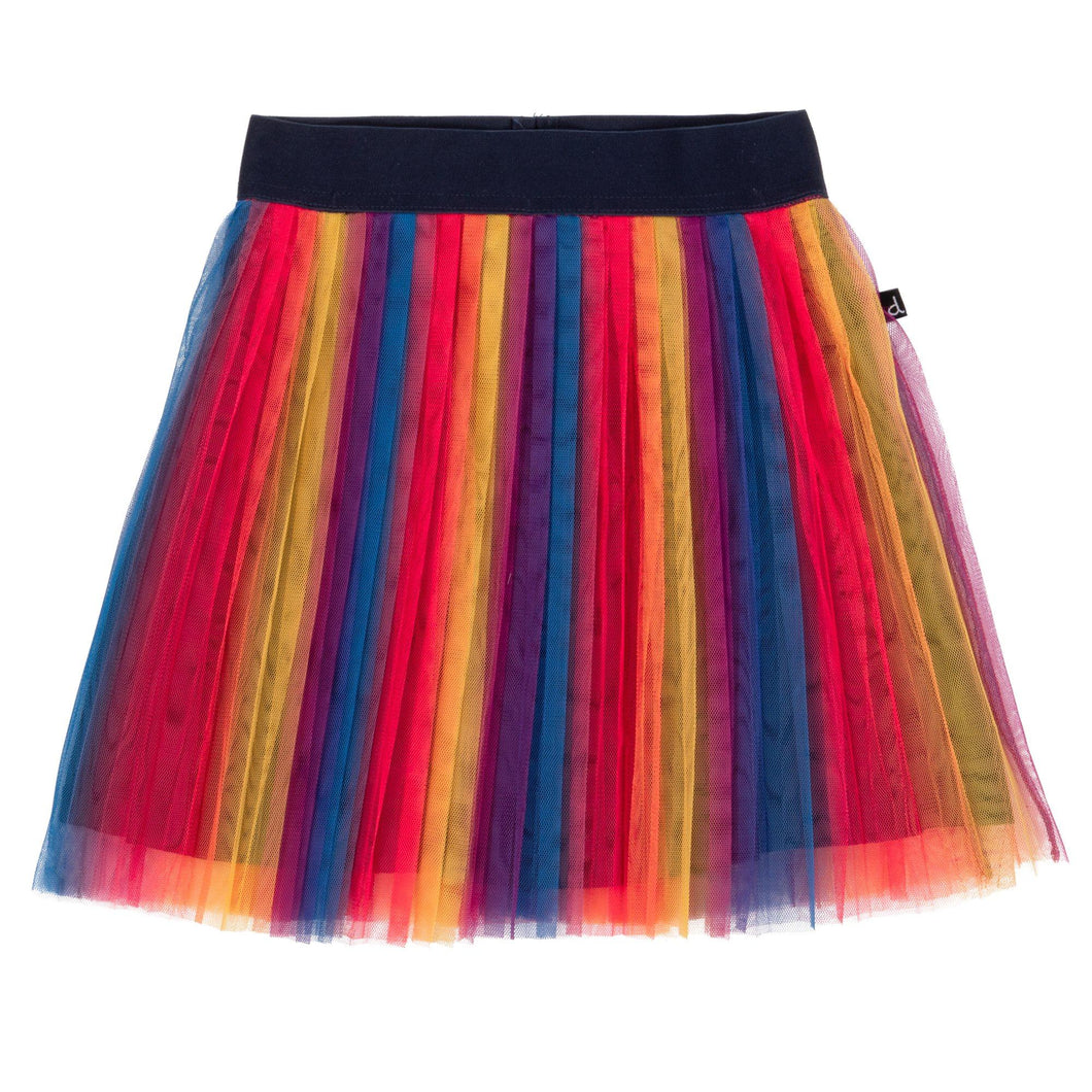 Multicolor Pleated Tutu Skirt Girl C20F81_000