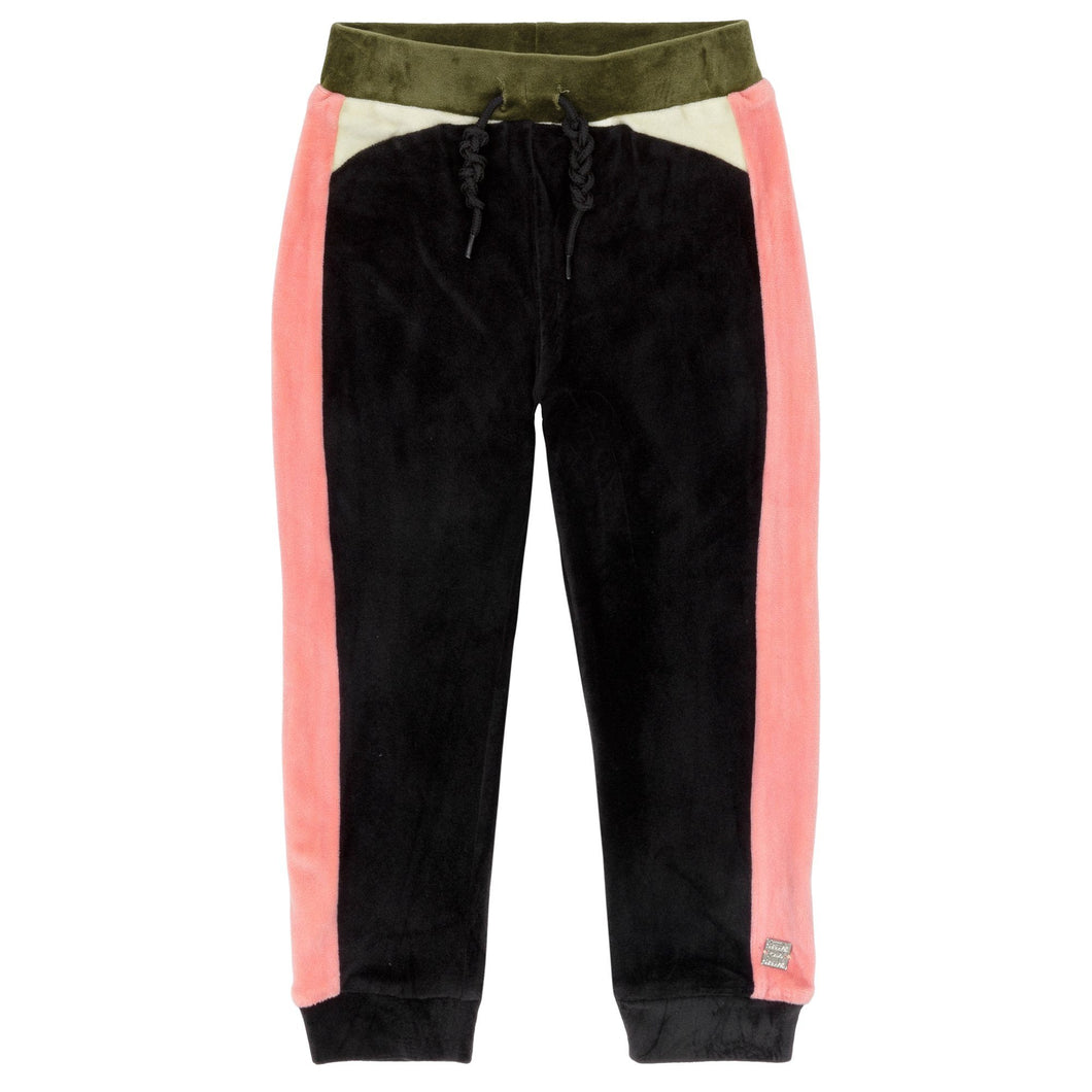 Multicolor Velvet Jogger Pants Girl C20I22_999