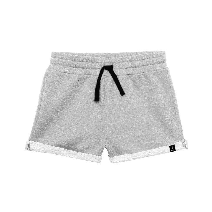 French Terry Short in Light Grey Mix Girl C30E25_191