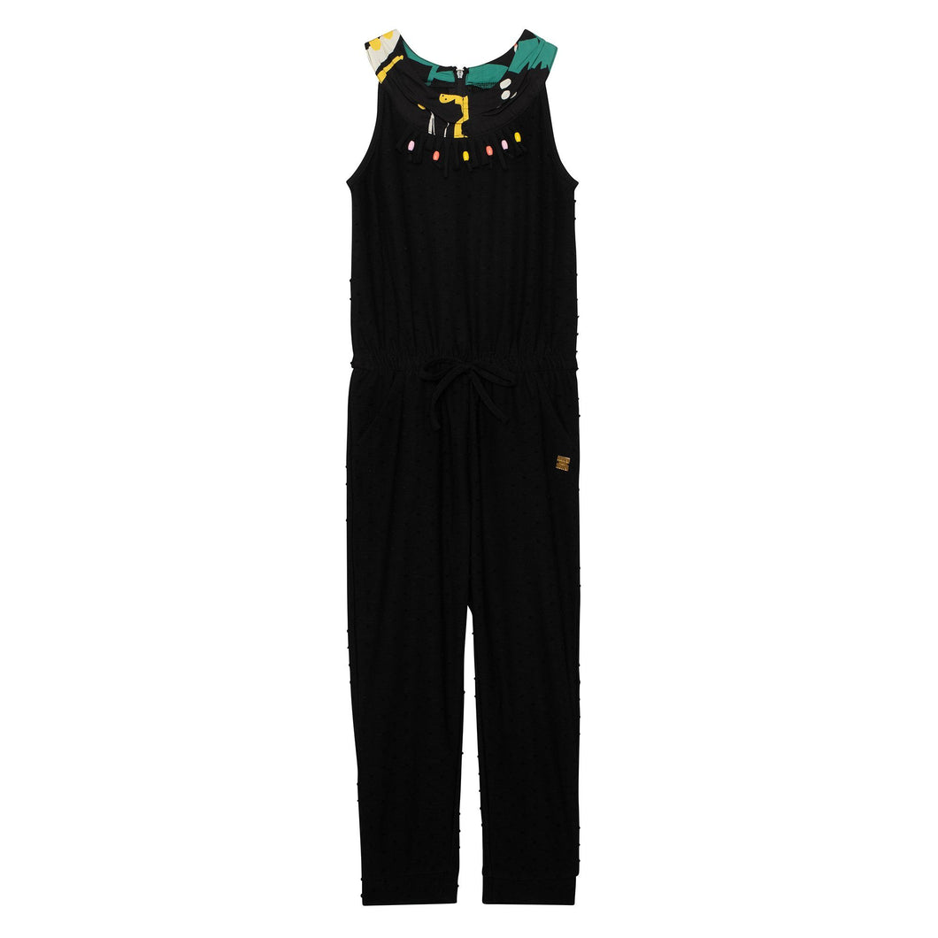 Jumpsuit With Fringe and Beads Girl C30E42_999