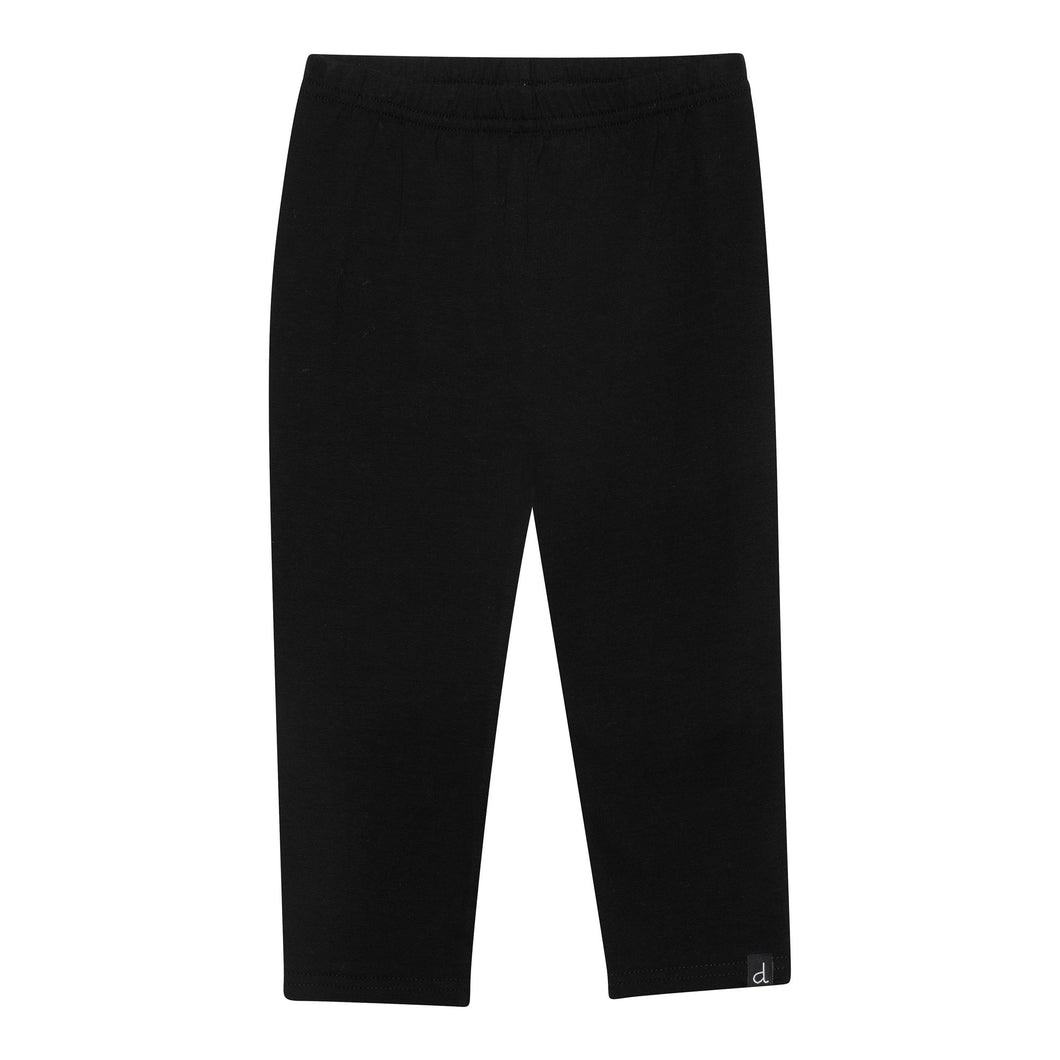 Organic Cotton Capri Legging in Black Girl C30E60_999
