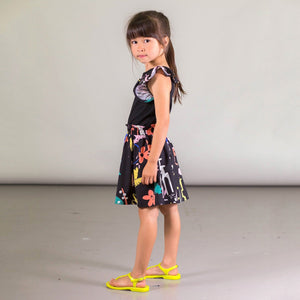 Organic Cotton Jungle Print Dress With Studs Girl C30E89_000