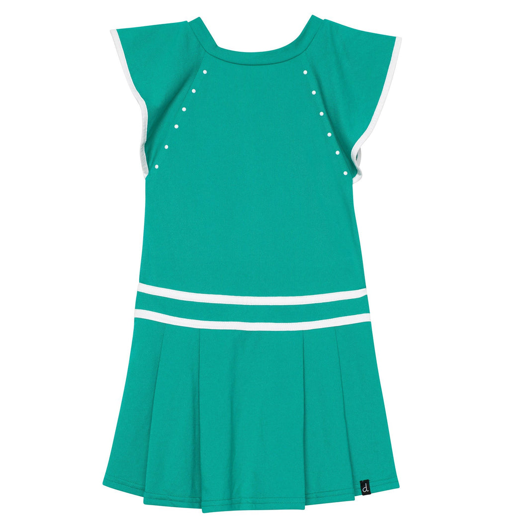 Pleated Dress With Studs Girl C30E90_381