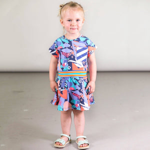 Organic Cotton Toucan Printed Dress with Pocket Girl C30FF90_025
