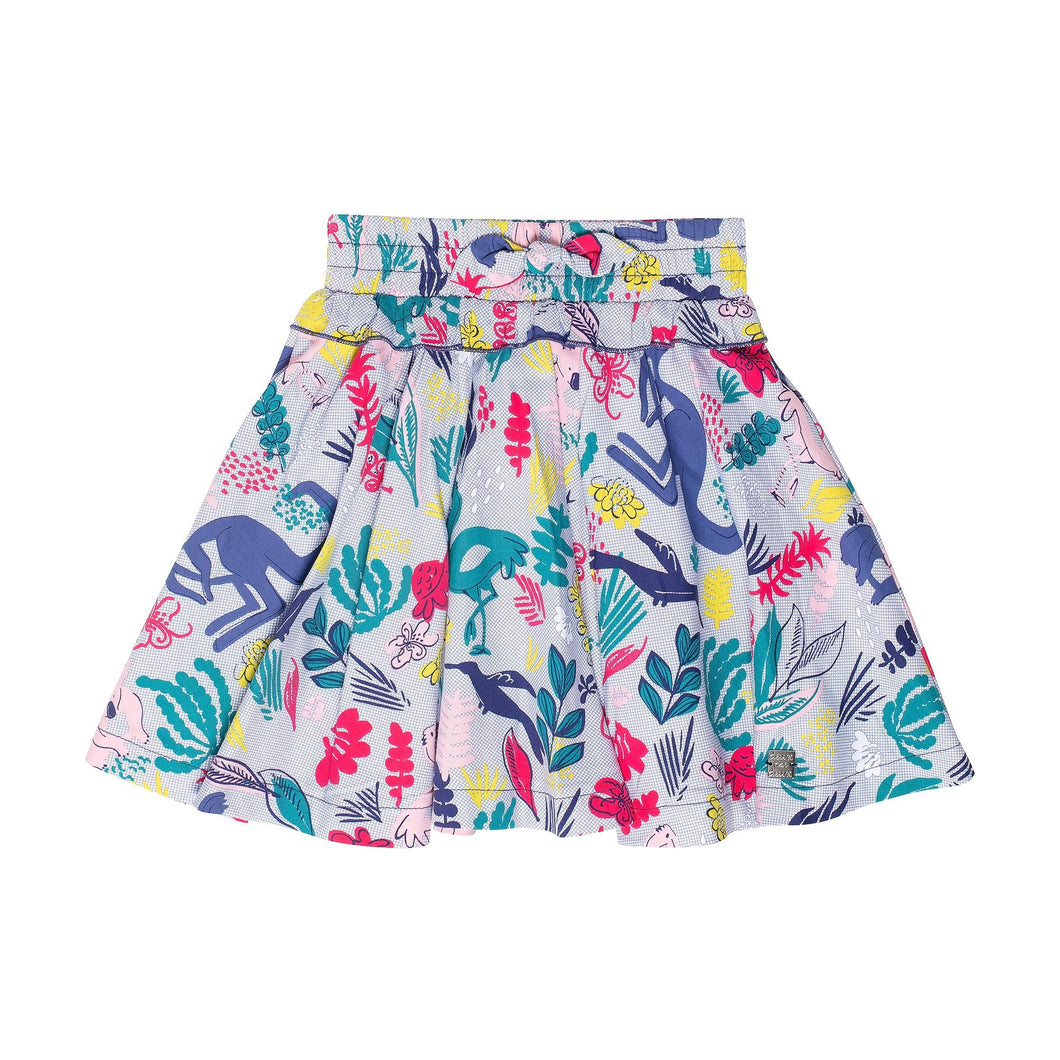 Soft Woven Mini Skirt with Koala Print Girl C30H80_038
