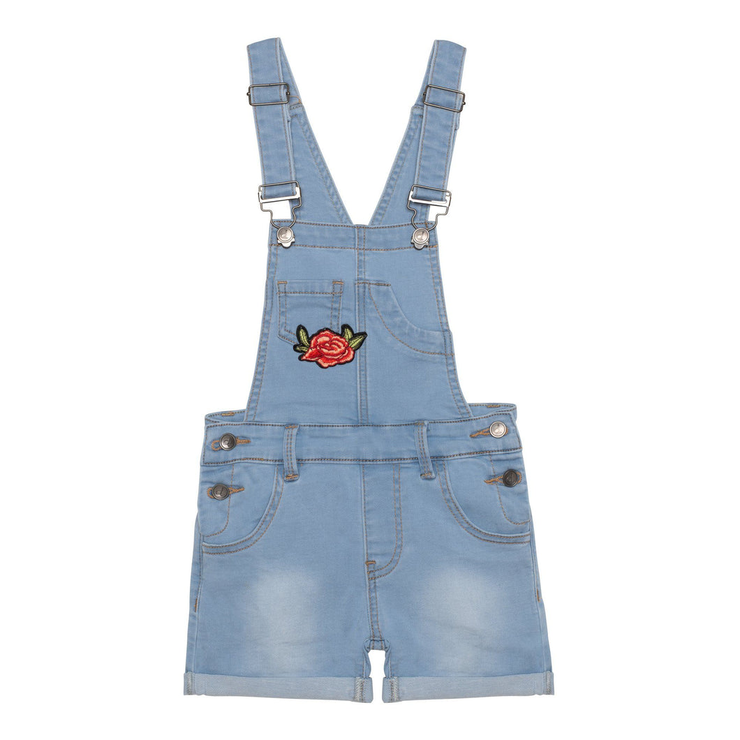 French Terry Denim Shortall with Embroidery Girl C30J40_123
