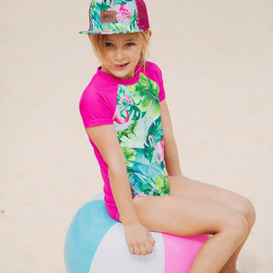 Printed One Piece Swimsuit Girl C30M11_000