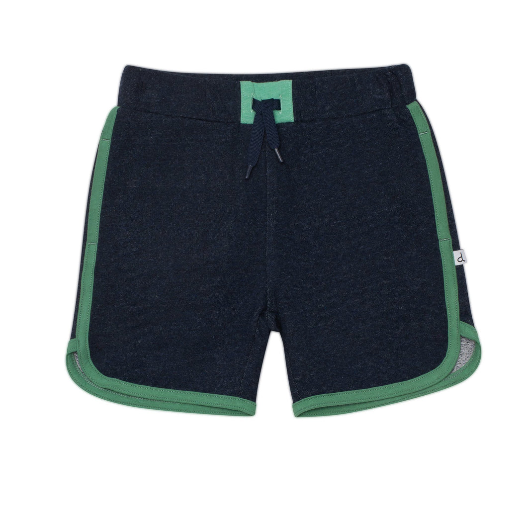 Drawstring French Terry Short in Navy Boy C30T25_481
