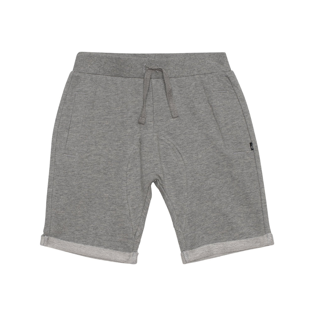 Relaxed fit French Terry Bermuda in Light Heather Grey Boy C30U25_195