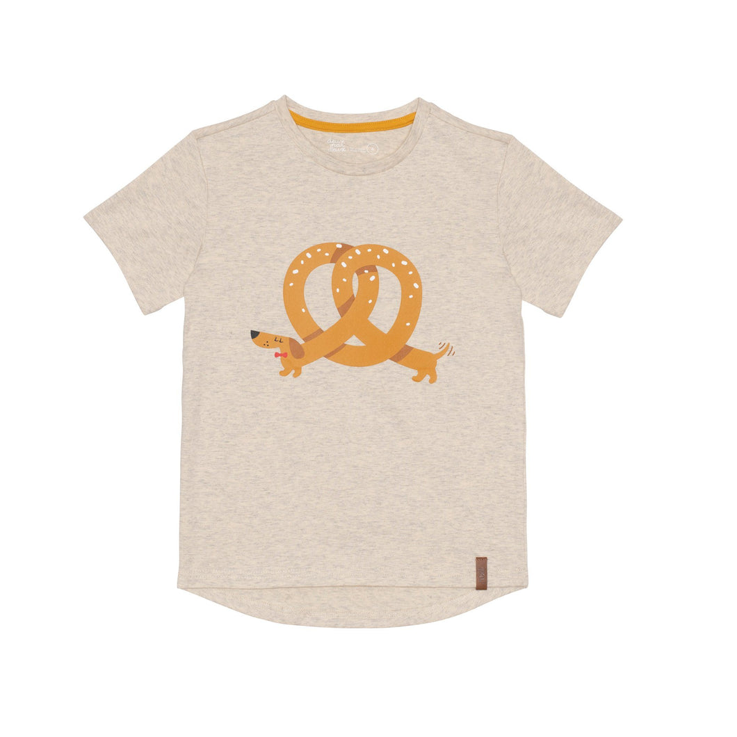 Jersey T-Shirt with Pretzel Dog Print Boy C30U70_193