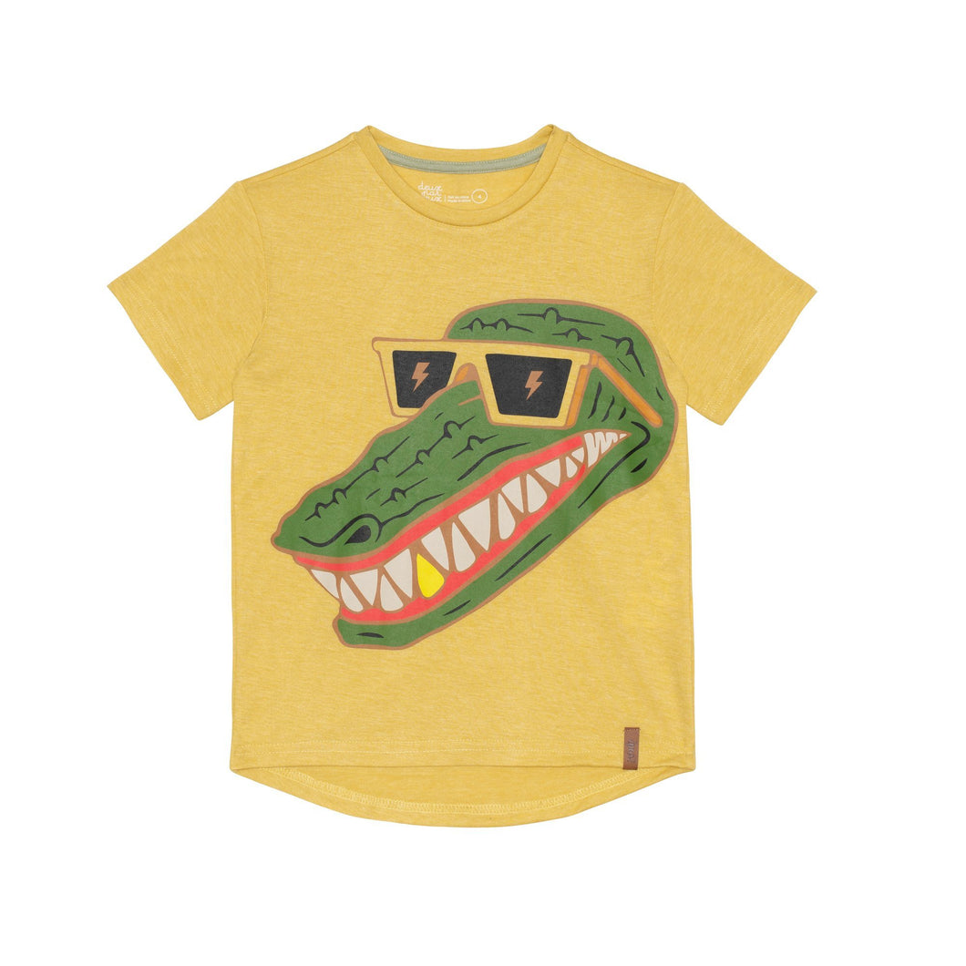 Jersey T-Shirt with Croc Print Boy C30U70_313