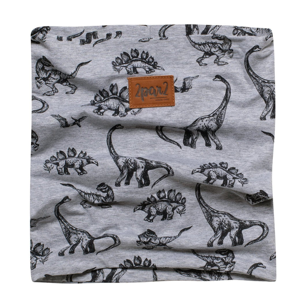 Printed Dinosaur Mid-Season Neck Warmer Boy C30W23_010