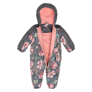 Baby Floral Print Spring Suit with Hat Baby Girl C30W65_003