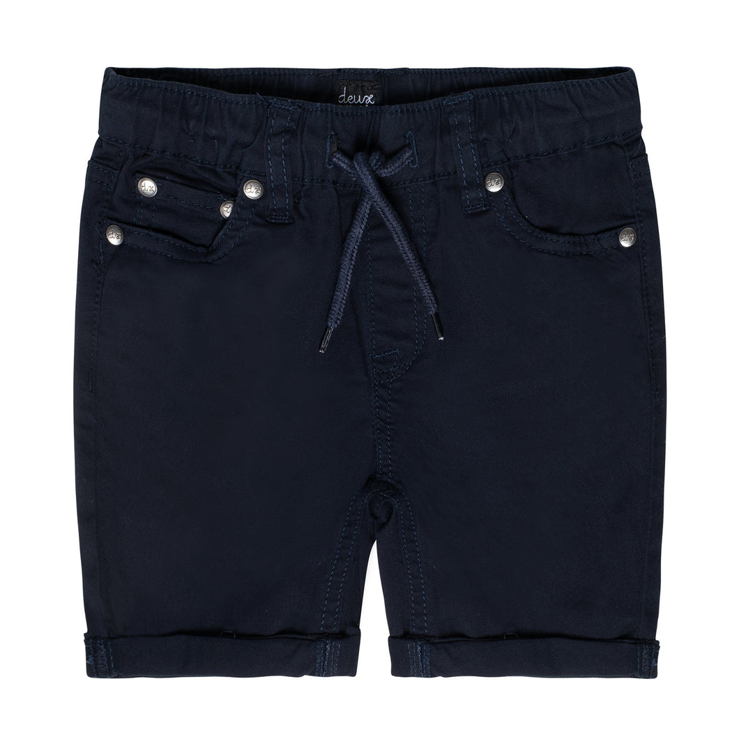 Drawstring Twill Short in Navy Boy C30YB27_481