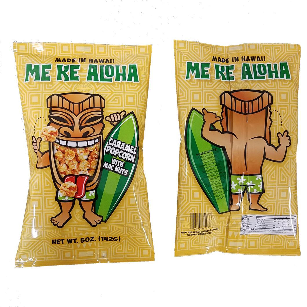 Front and back images of our packaging features our Tiki mascot