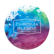Load image into Gallery viewer, Chroma Blends Circular Watercolor Paper