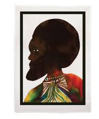Chris Ofili: Afromuses Couple Tea Towel (Man)