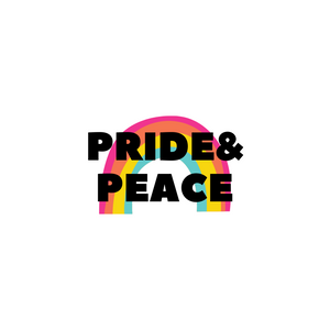 Pride and peace. LGBTQ+ community clothes.