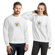Load image into Gallery viewer, Rainbow Eye Unisex Sweatshirt