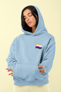 Unisex Nonbinary Flag Hoodie