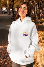 Load image into Gallery viewer, Unisex Nonbinary Flag Hoodie