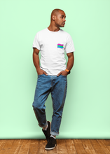 Load image into Gallery viewer, Polysexual Flag - Unisex Organic T-Shirt