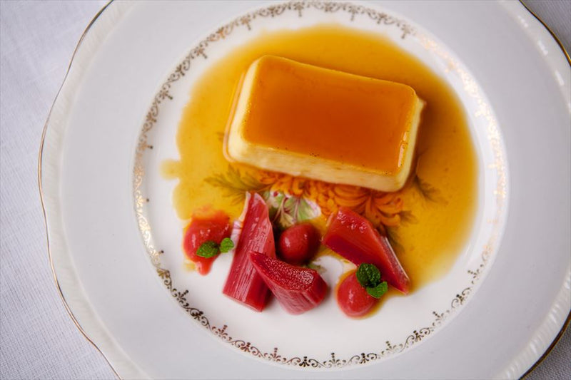 Rhubarb with Cream Caramel