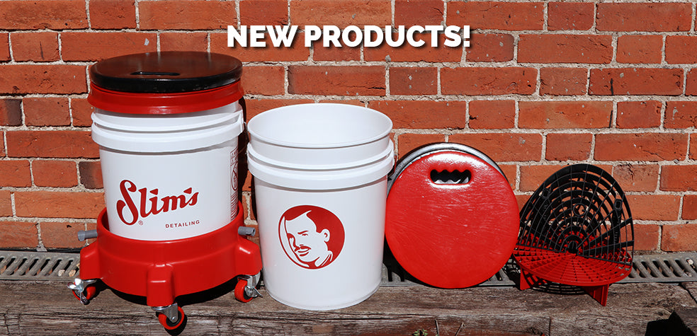 New Products - Slim's Buckets, Lids & Dollies
