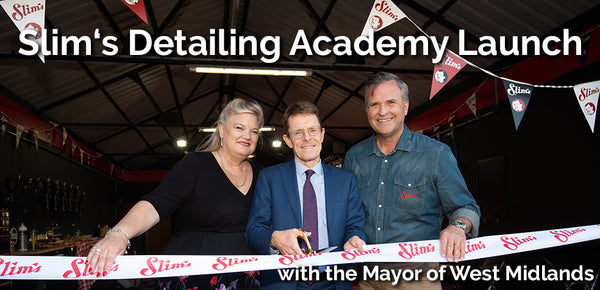 Pictured outside the academy (left to right): Ruth Moring-Beale (National Sales Director), Andy Street (Mayor of West Midlands), Andrew Moring (Marketing Director)