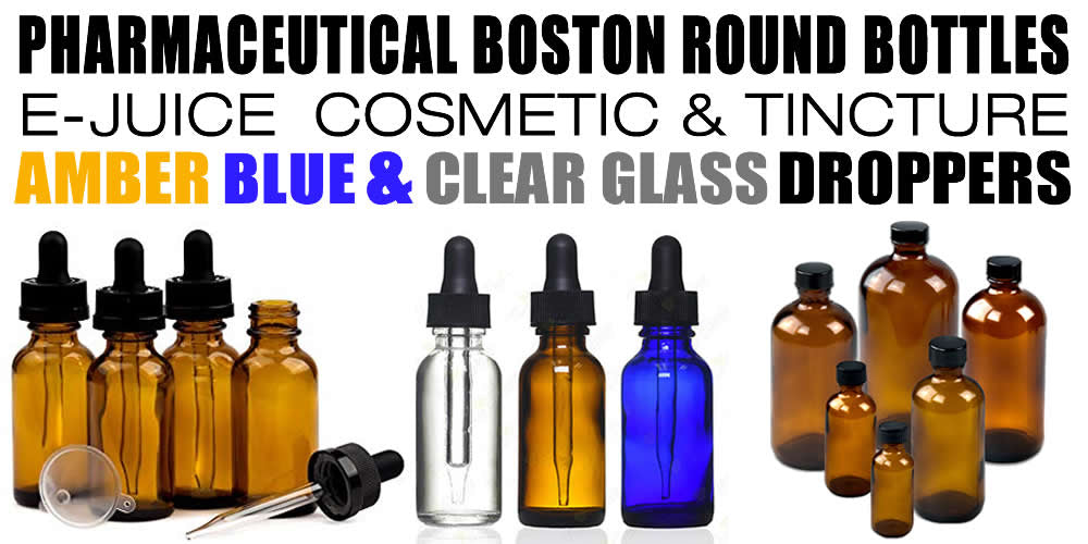 Glass Boston Round Droppers