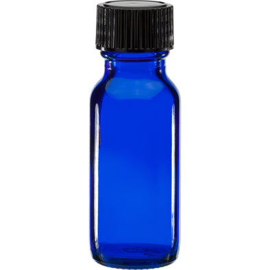 15ml Cobalt Blue Glass Bottle With Cap