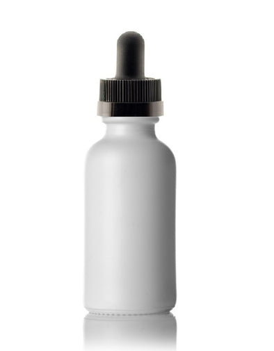 30 mL Clear Boston Round Glass Child Resistant Dropper Bottle