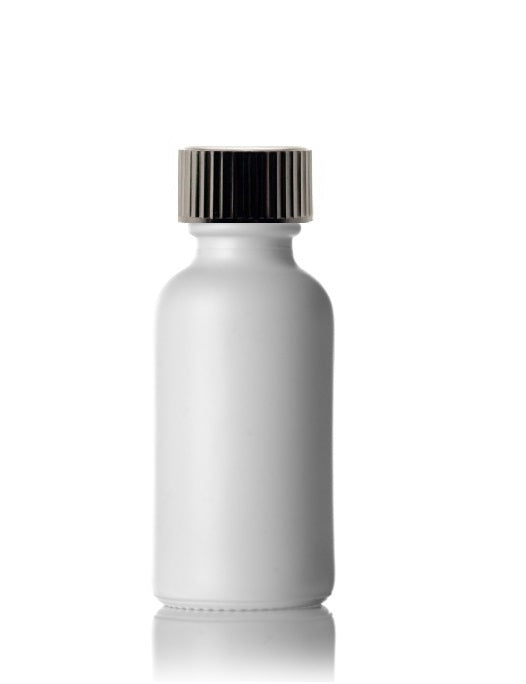 30mL White Glass Bottle With Cap