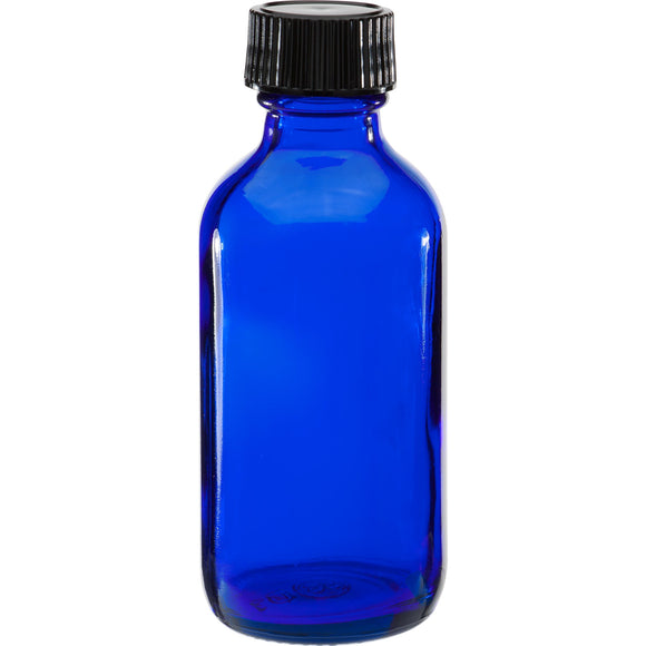 60ml Cobalt Blue Glass Bottle With Cap
