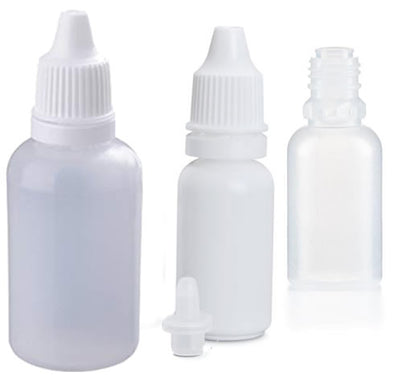 LDPE Eye Dropper Bottles w/ Tamper Evident Cap