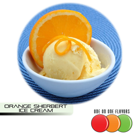 Orange Sherbet Ice Cream Flavour by One On One